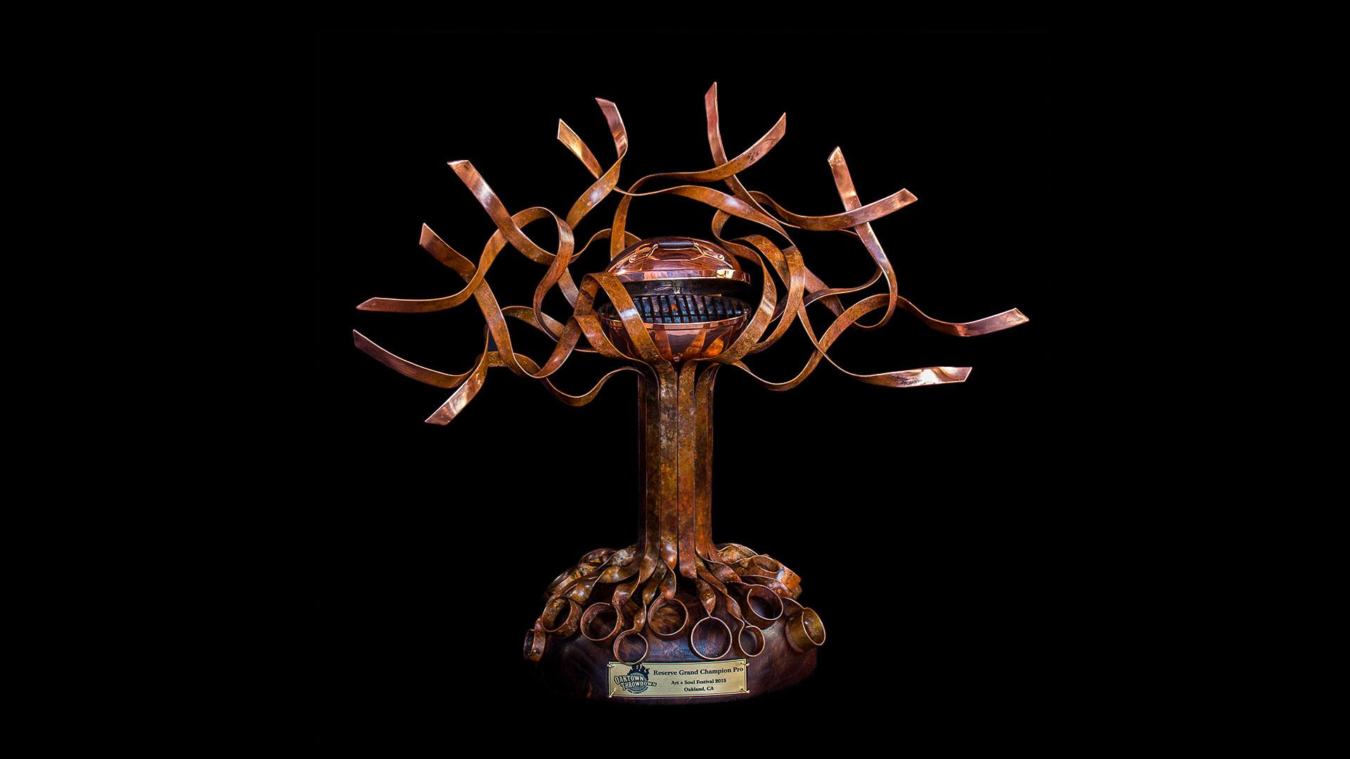copper trophy art